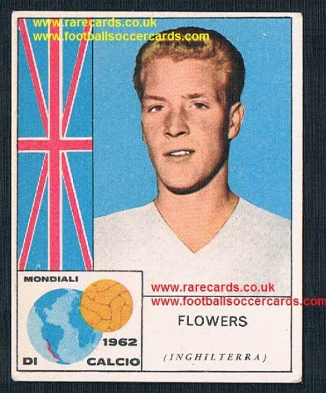 1960s Italian Mira gum card Mira Ron Flowers Wolves Northampton Town England
